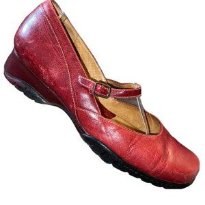Nurture Leather Mary Jane Shoes Womens Size 8 Red
